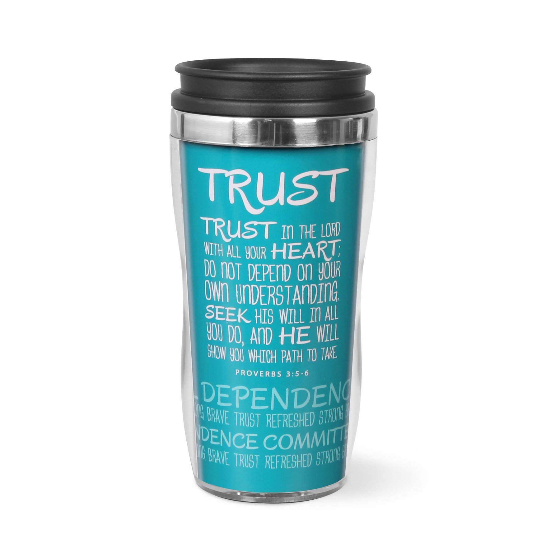 Lighthouse Christian Products Trust Wavy Acrylic/Stainless Steel Tumbler Mug, 13 oz