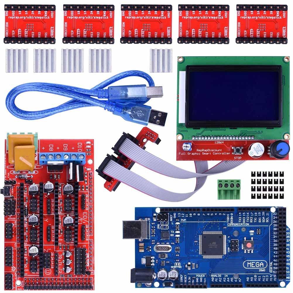 Rokoo Kit de controlador de impresora 3D Mage 2560 R3 Starter + ...