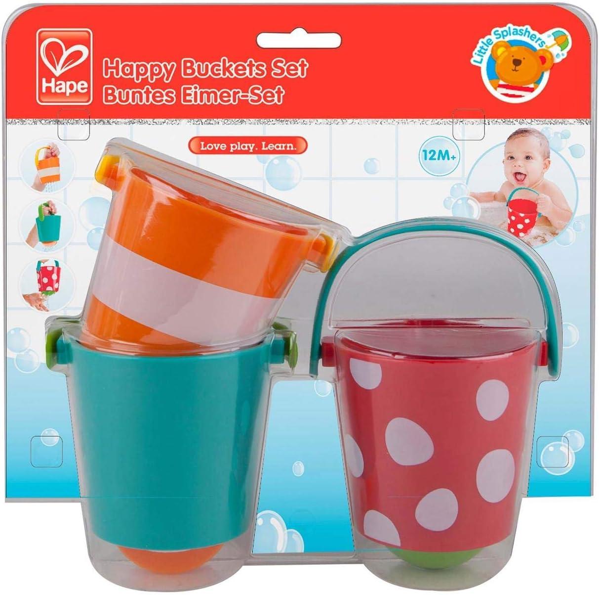 Hape- Juguete baño bebé Cubos alegres (Barrutoys E0205)