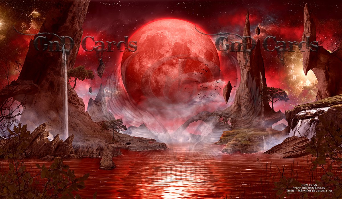 GnD Cards Blood Moon Custom Playmat MTG