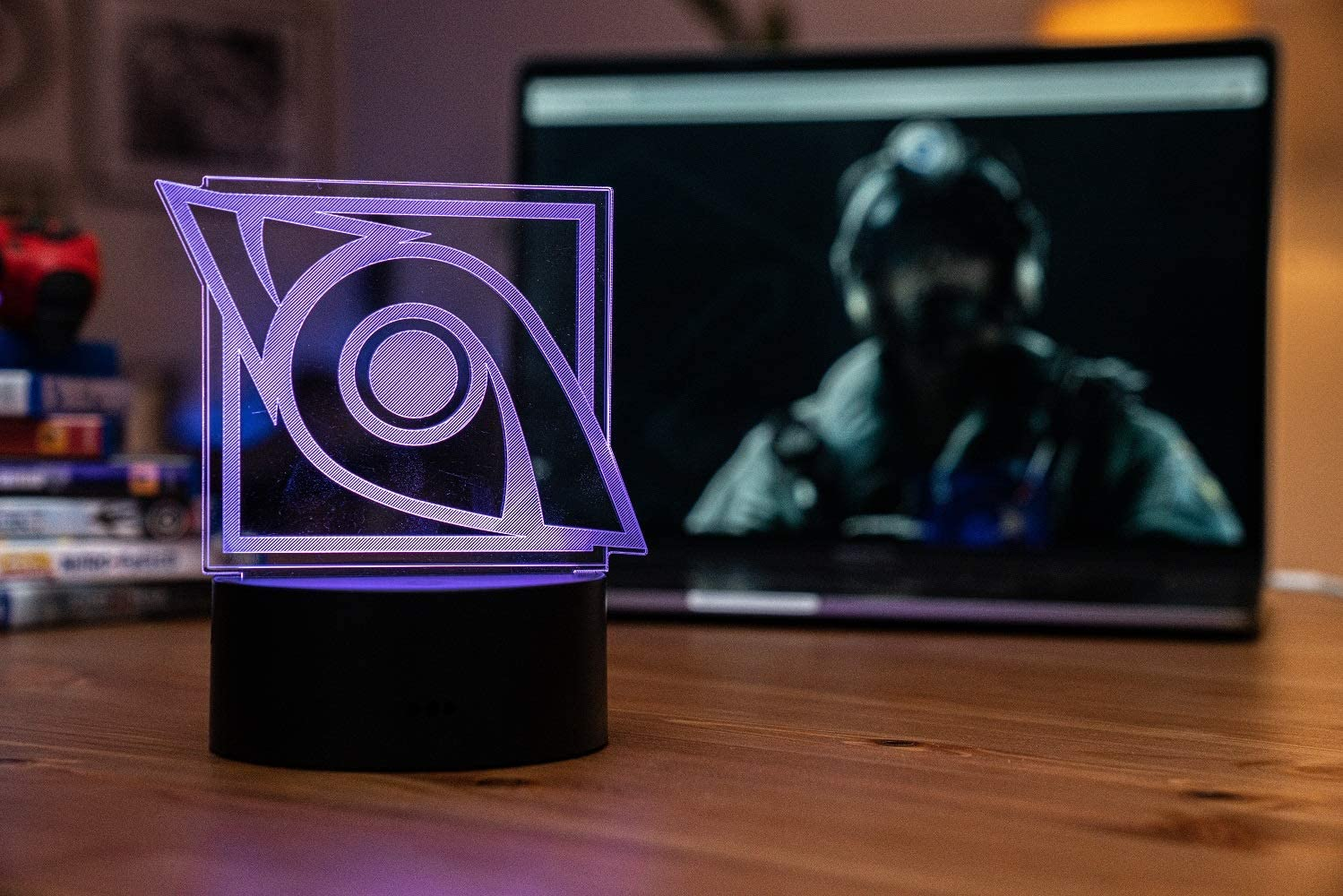 Six Siege LED Lamp - Jackal Operator - Rainbow Six Siege Decor for The Bedroom or Gaming Studio - Color Changing LED Nightlight Great for Cosplay Photoshoots with Any R6 Character