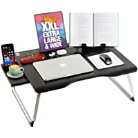 Cooper Mega Table [XXL Extra Large - Premium Build] Folding Bed Desk, Lap Desk & Laptop Table | Drawer, Book Stand, Lots…