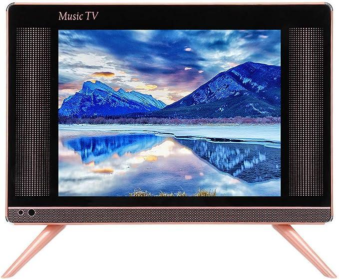 Mini televisores, mini televisor portátil LCD DVB-T2 HD LCD de 17 pulgadas compatible con HDMI, USB, VGA, reproductor de televisión AV digital con altavoz para dormitorio, cocina: Amazon.es: Electrónica