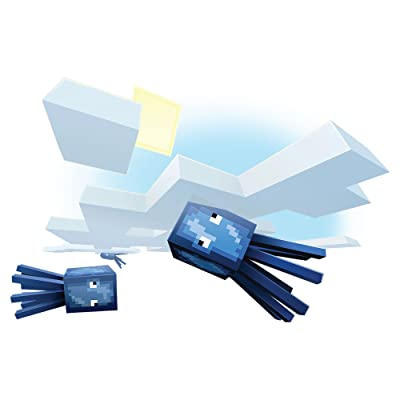 JINX Minecraft Flying Squid Removeable Wall Cling Decal Sticker for Kids Room: Everything Else