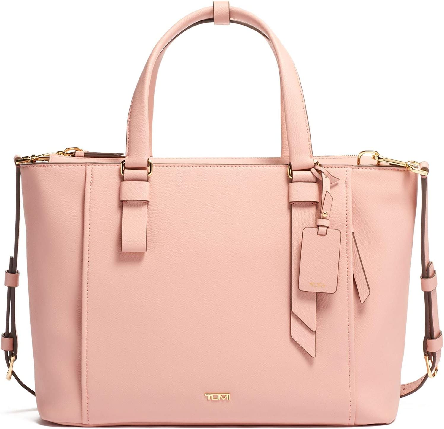 TUMI - Varek Park Leather Laptop Tote - 12 Inch Computer Bag for Men and Women - Blush