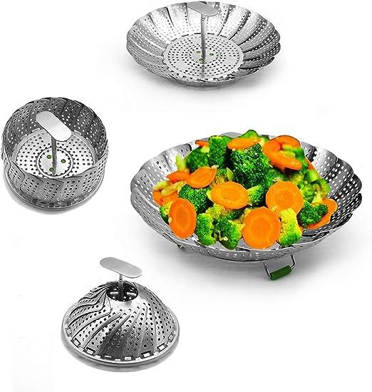 Amazon.com: Cesta de vapor para verduras, cesta de vapor ...