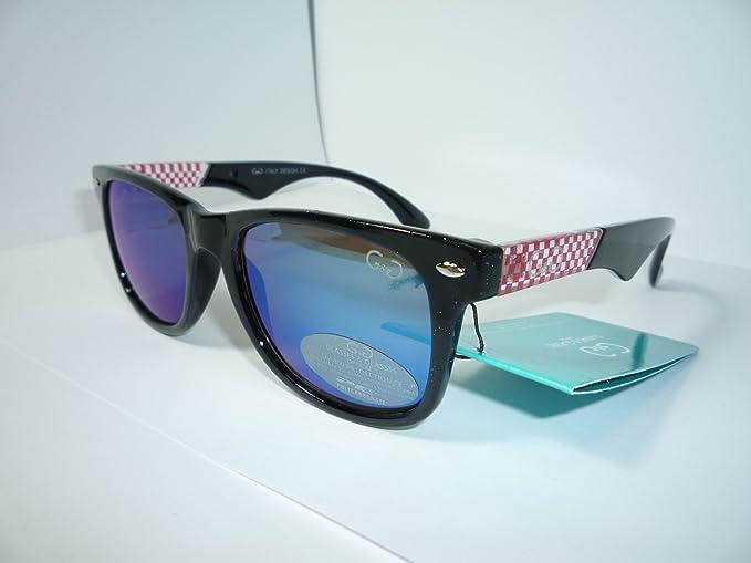 Gafas de sol diseño Wayfarer cuadraditos: Amazon.es: Ropa y ...