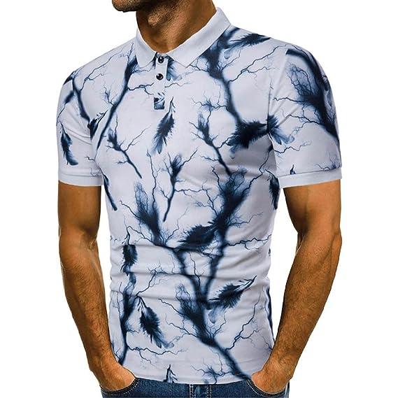2018 Diseño de la moda de los hombres del diseño de verano Patchwork Casual delgada manga