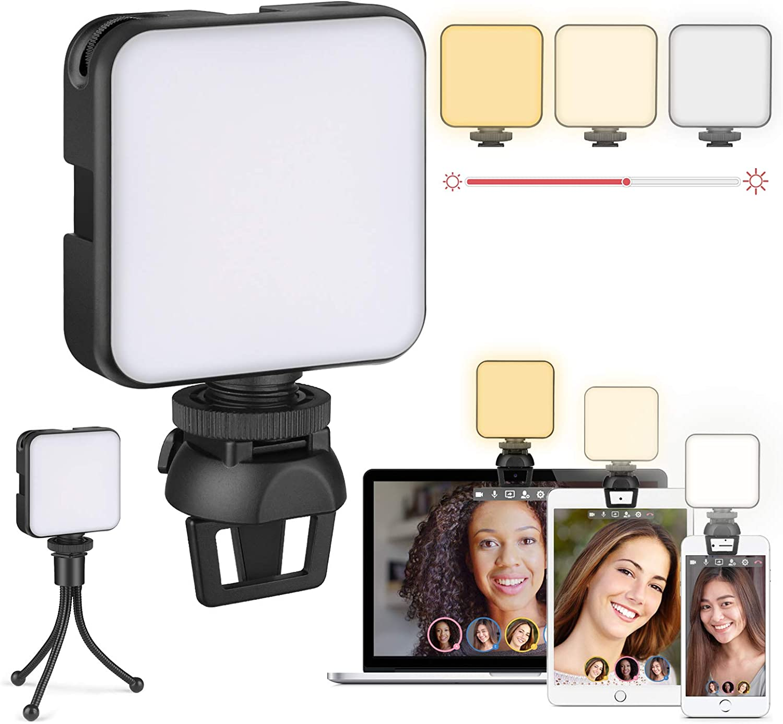 Videokonferenz Beleuchtungsset Laptop Licht Kamera