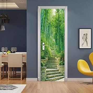 Escalera de bambú Bricolaje mural hogar decoración PVC visual regalo adhesivo de pared autoadhesivo festivo escenografía arte 95X215CM: Amazon.es: Bricolaje y herramientas