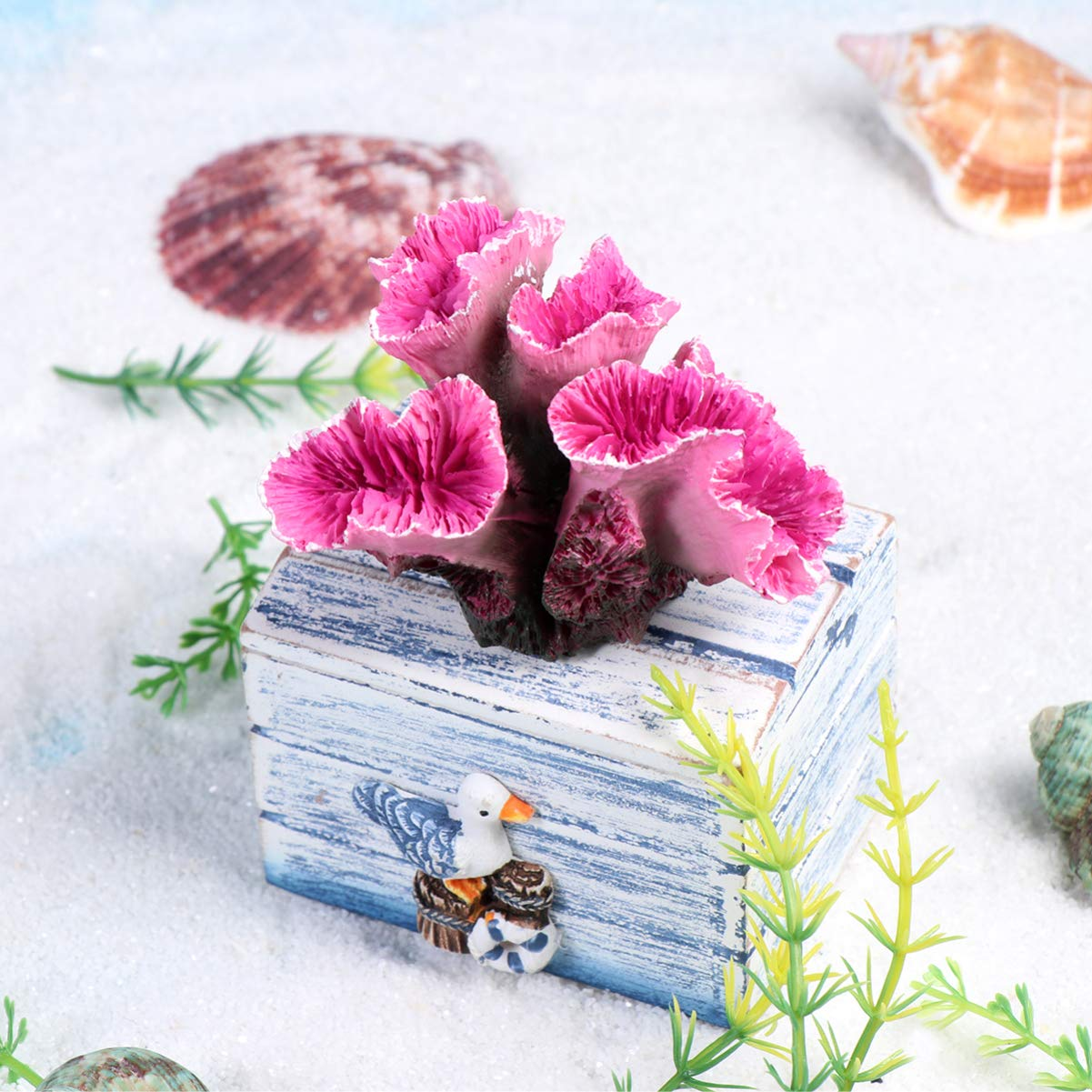 POPETPOP Decoraci/ón Artificial Acuario Coral Falsa Arrecife Submarino Decoraci/ón para Pecera Decoraci/ón del Paisaje