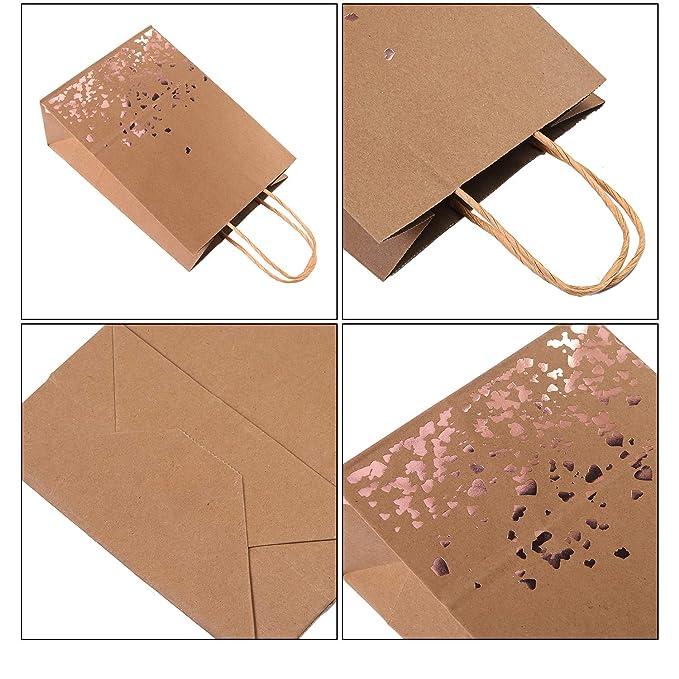 Amazon.com: Cooraby - 18 bolsas de papel de color oro rosa ...