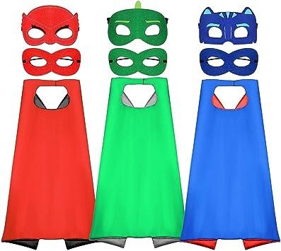 Comprar Tacobear Superhéroes Disfraz para niño 6 Piezas Mascaras 3 Piezas Capas Superhéroes Disfraz Cosplay Fiesta cumpleaños