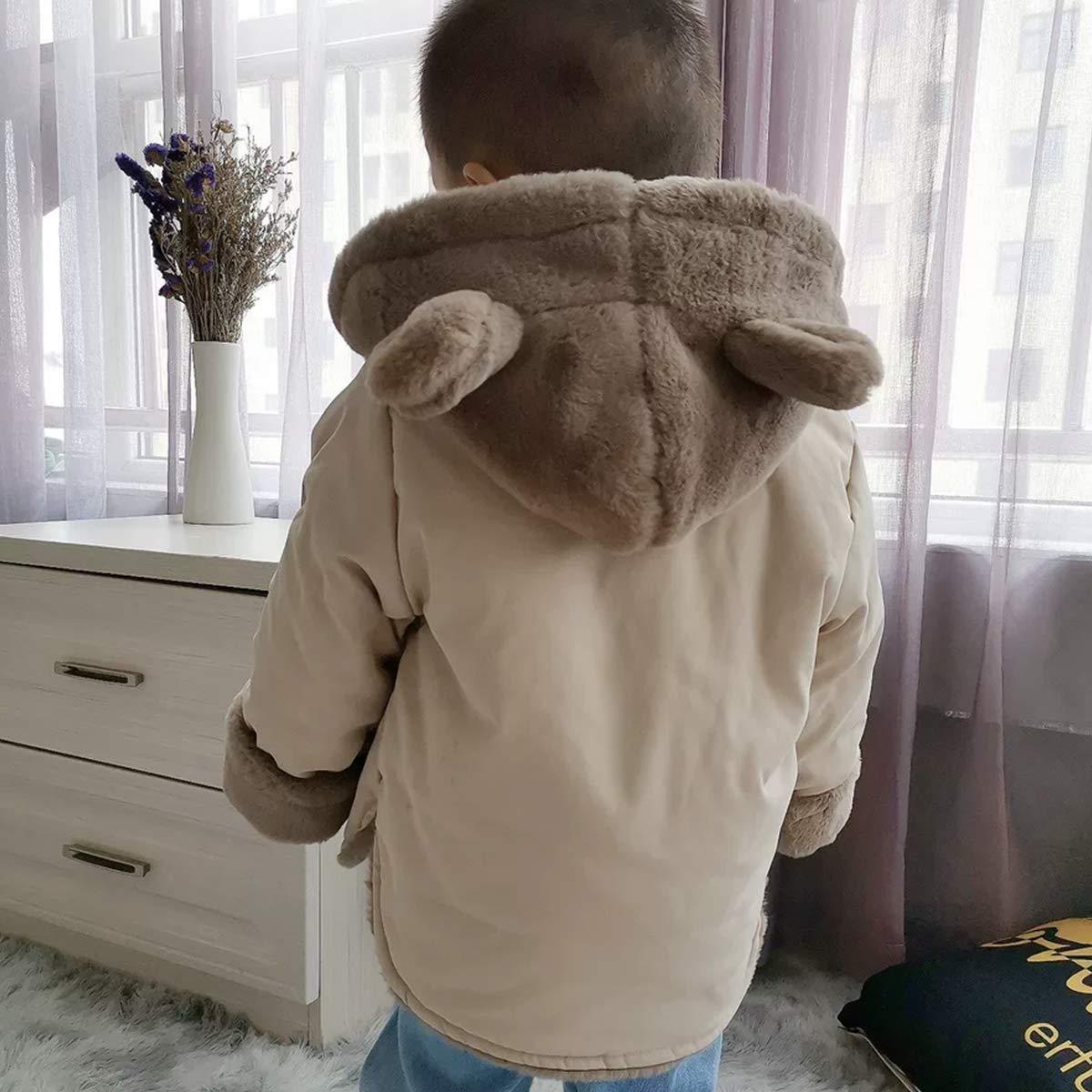 Warm Cotton Baby Winter Coats NinkyNonk Toddler Fleece Jacket Kids Hooded Outerwear for Boys Girls