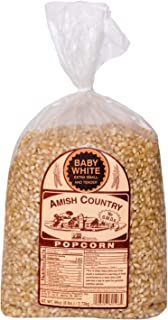 product image for Amish Country Popcorn | 6 lb Bag | Baby White Popcorn Kernels | Small and Tender | Old Fashioned with Recipe Guide (Baby White, 6 Lb Bag)