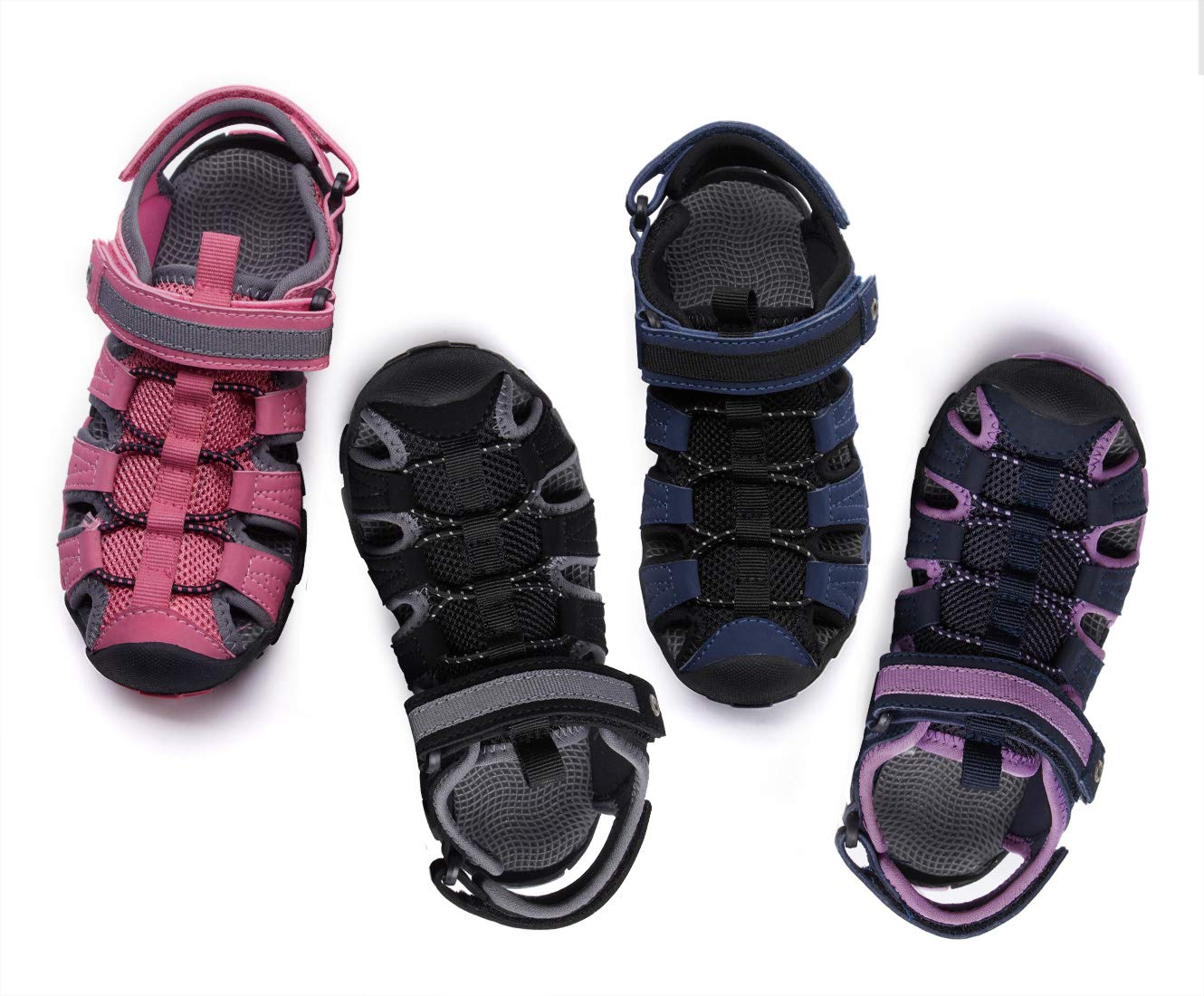 BMCiTYBM Girls Boys Hiking Sport Sandals Toddler Kid Closed Toe Water Shoes Black Size 3 by BMCiTYBM (Image #7)