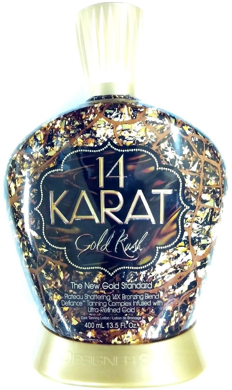 14 Karat Gold Rush 14x Plateau Breaking Bronzer Tanning Lotion By Designer Skin