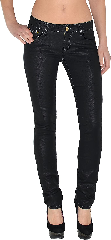 Damen Röhrenjeans Damen Jeans Hose Skinny Jeanshose Stretch Hüftjeans Röhre Z156