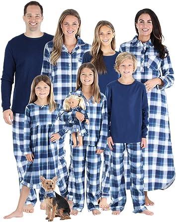 Blue, Mom//S Family Matching Plaid Shirt