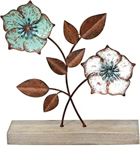 Stratton Home Decor Metal Flower Table Top