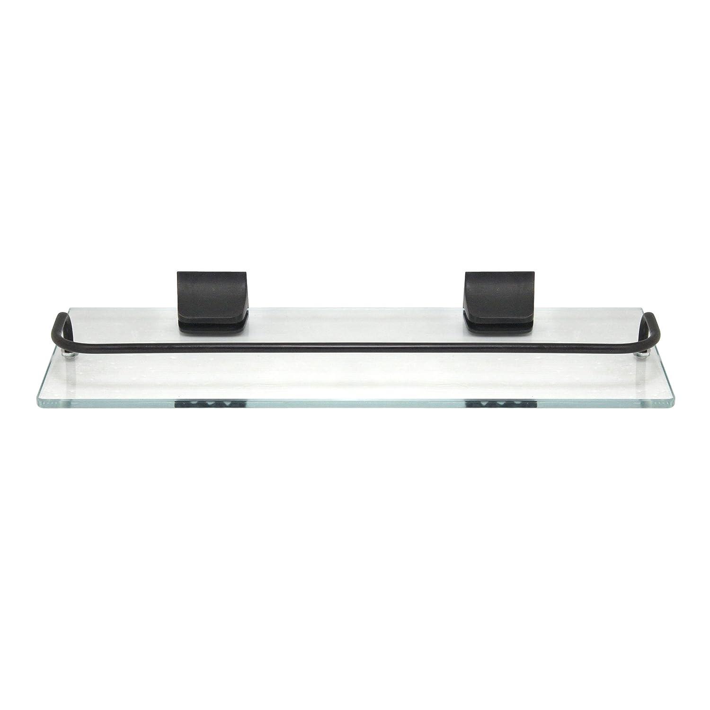 MODONA Glass Wall Shelf with Rail – Polished Chrome – 5 Year Warrantee Modona Bathroom Company GWS-PC