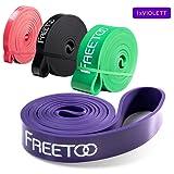 Fitness Resistenza Band FREETOO Fasce Elastiche, Perfette per Riabilitazione Dopo un Infortunio, Yoga, Pilates, Crossfit