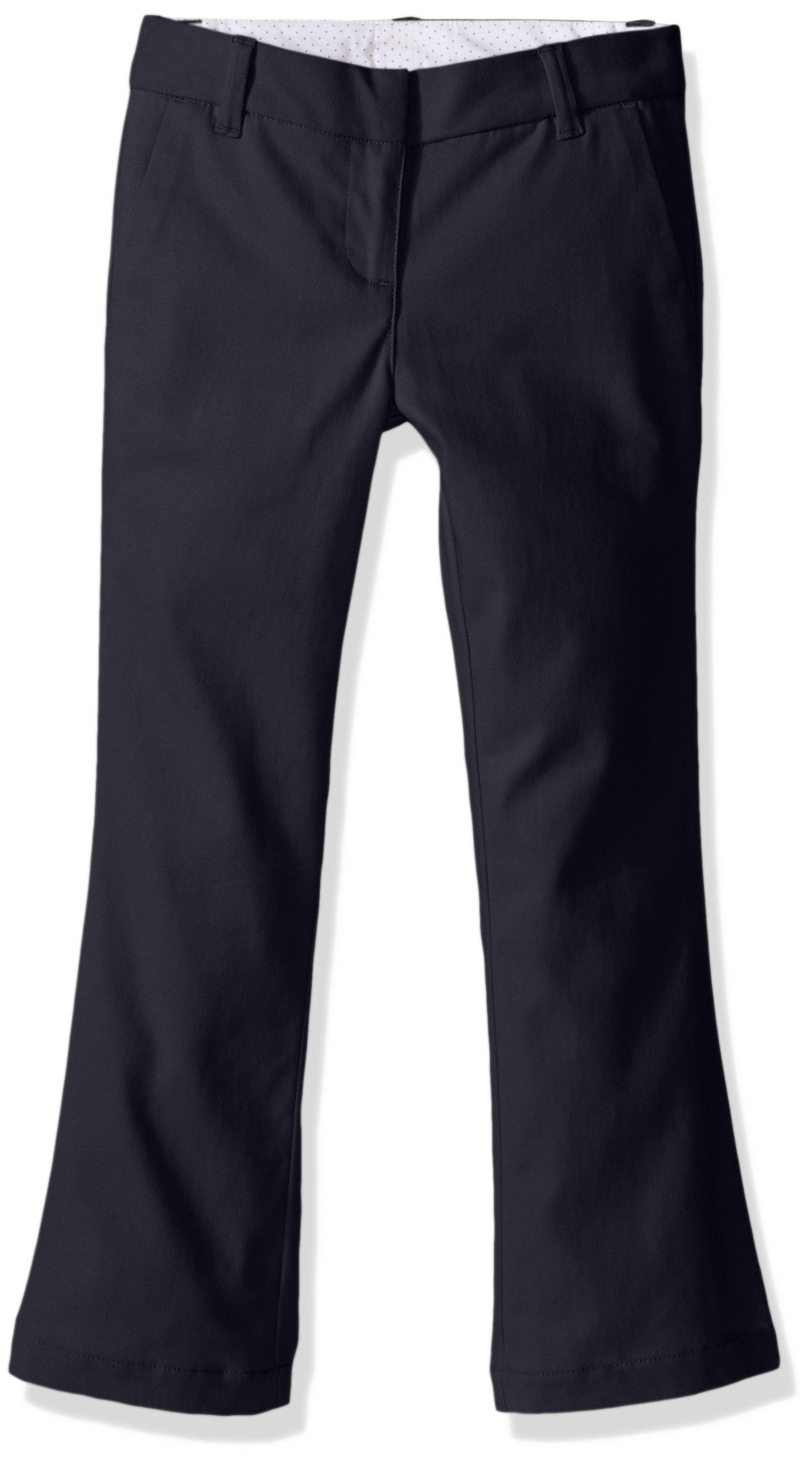 Dockers Little Girls' Uniform Skinny Bootcut, Navy, 6