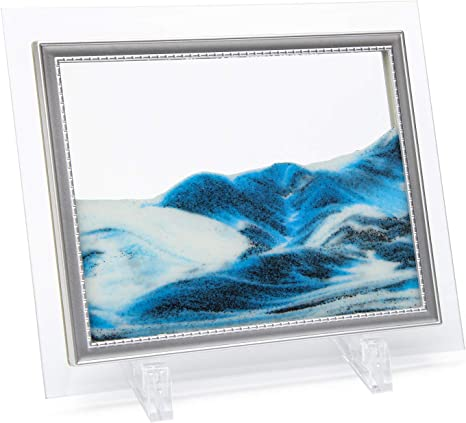 1pc Framed Sand Art Moving Sand Picture Desktop Art Beautiful Mountain Scenery