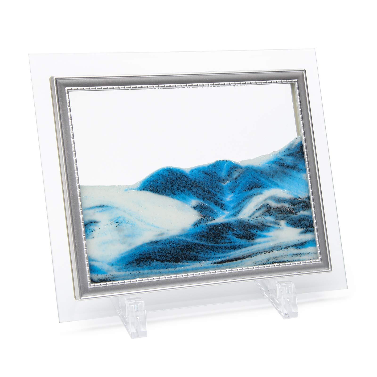 Cuadro de arte arena en movimiento azul Coitak 18x23cm
