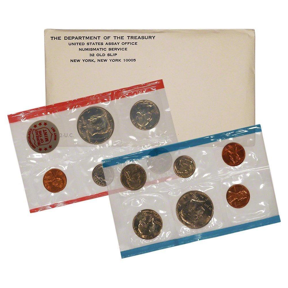1968 Various Mint Marks United States Mint Uncirculated Coin Set in Original Government Packaging Uncirculated