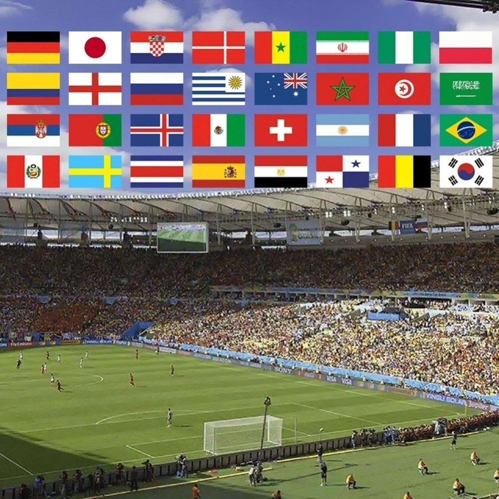 9/m avec 32/drapeaux Fanions de la coupe du monde/ /Coupe du monde de football de la FIFA 2018,/fanions en tissu