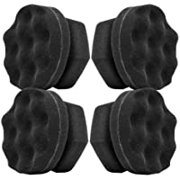 Tire Dressing Shine Applicator, Round Grip Deeper Tire Brush Tire Dressing Applicator Pad Wave Design to Reach Trim Makes Detailing Tires Easier - Durable, Washable, and Reusable(Pack of 4