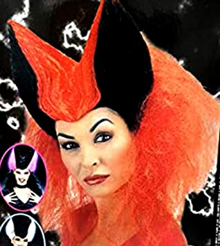 Pequeños Monelli Pelucas Halloween Parrucca Diavola Adulto