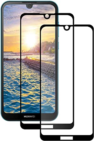 LPCJ Verre Trempé pour Huawei Y5 2019,[Pack de 2] Film Protection écran - Anti Rayures - sans Bulles d'air -Ultra Résistant,Protection D'écran Huawei ...