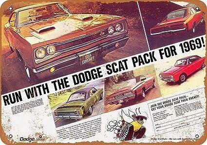 Toddrick Dodge Scat Pack Cartel de Chapa Estilo Vintage, Cocina Retro, Bar, cafetería, decoración de la Tienda, 8