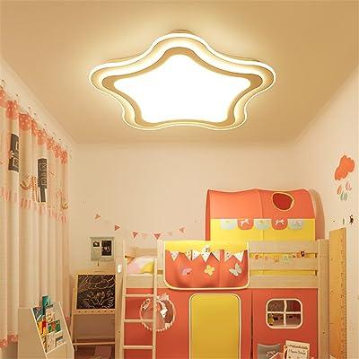 ANGEELEE Les enfants de lumière plafond moderne minimaliste garçons créatifs chambres GirlsLedThe sont confortables chambres princesse dessin animé lampe chambre chaude lumière,35cm