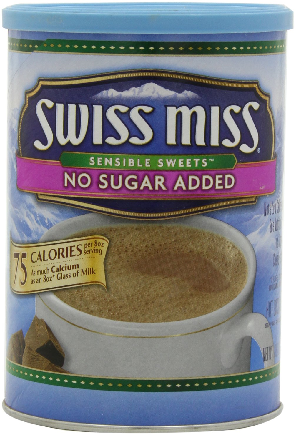 Swiss Miss Hot Cocoa Mix, Sensible Sweets, No Sugar Added, 13.8 Oz. (Pack of 6)