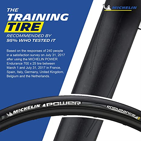 Michelin Power Endurance Folding Road Tire 700x25c Red Black 330TPI