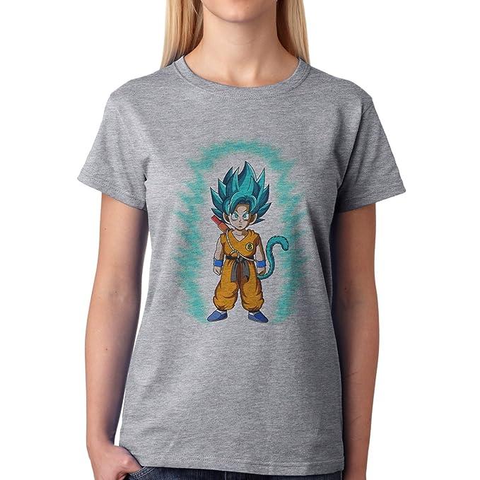 Dragon Ball Super Kid Goku SSJ God XXL Mujer T-Shirt: Amazon ...