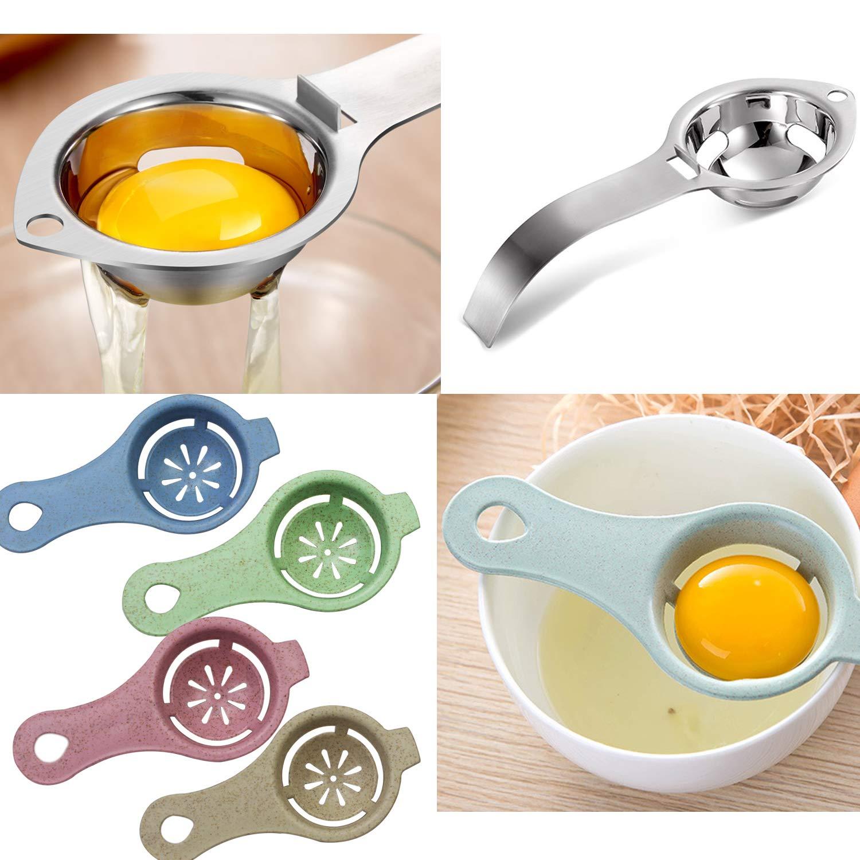 5 Pack WeiMeet Egg Separators Egg White Yolk Filter Egg Sieve Extractor Kitchen Gadget Cooking Tool