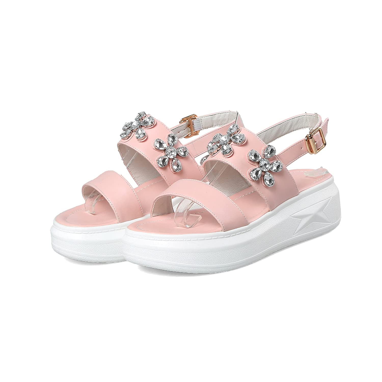 es amp;x Talón Mujer La Amazon Sandalias Y Peep Toe Qin Chunky Zapatos gz7qwUZC