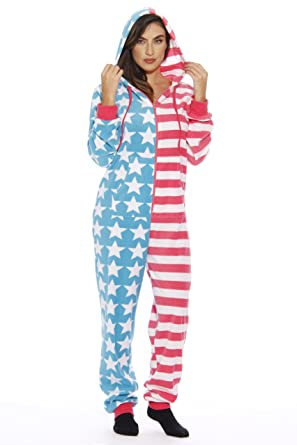 afe26bc966 Amazon.com: #followme American Flag Adult Onesie/Pajamas: Clothing
