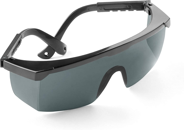 Gafas de seguridad de calidad que garantizan la protección de los ojos frente a la luz UV, LED o luz roja | Calidad probada según DIN EN 170 | Ideal para tratamientos con láser y fototerapia