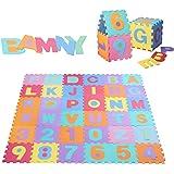 Amazon Com Foam Play Mats 16 Tiles Borders Safe Kids