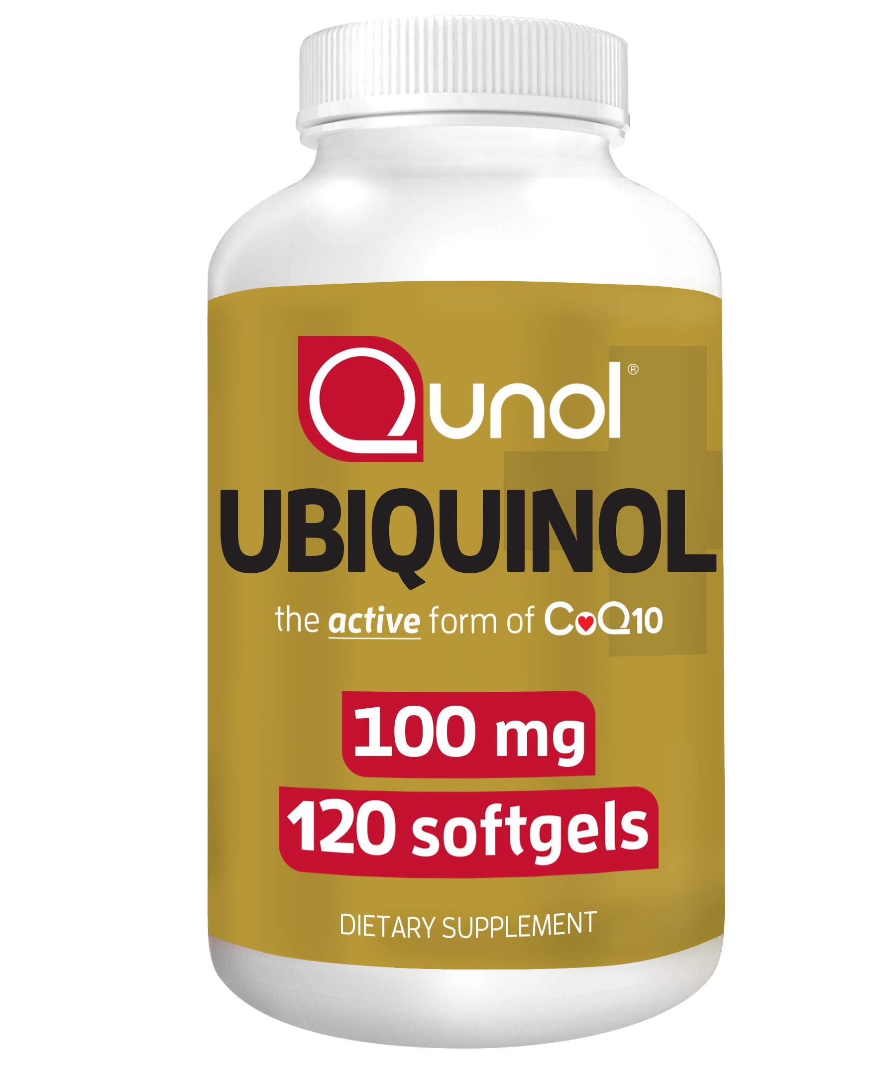 Qunol Ubiquinol, Powerful Antioxidant for Heart and Vascular Health, Essential for Energy Production, Natural Supplement Active Form of CoQ10