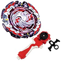 Bay Burst Battling Top Blade Evolution Turbo God Bey Red Left & Right Launcher Grip Starter Set B-131 Booster Dead Phoenix.0.at Cho Attack Gyro Bey Battle Gaming Top Novelty Spinning Toy Gift for Boys
