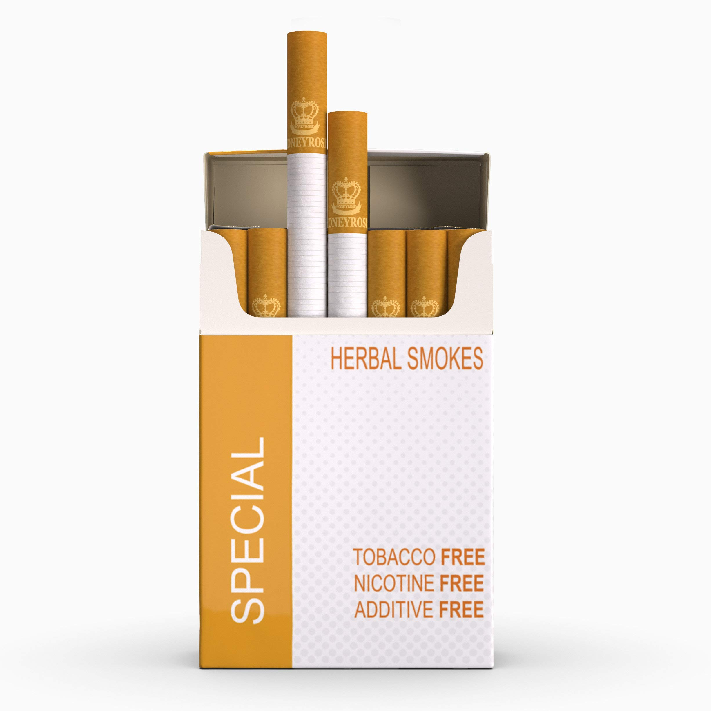 Honeyrose Special - Tobacco & Nicotine Free Herbal Cigarettes, 100% Natural, Made in England