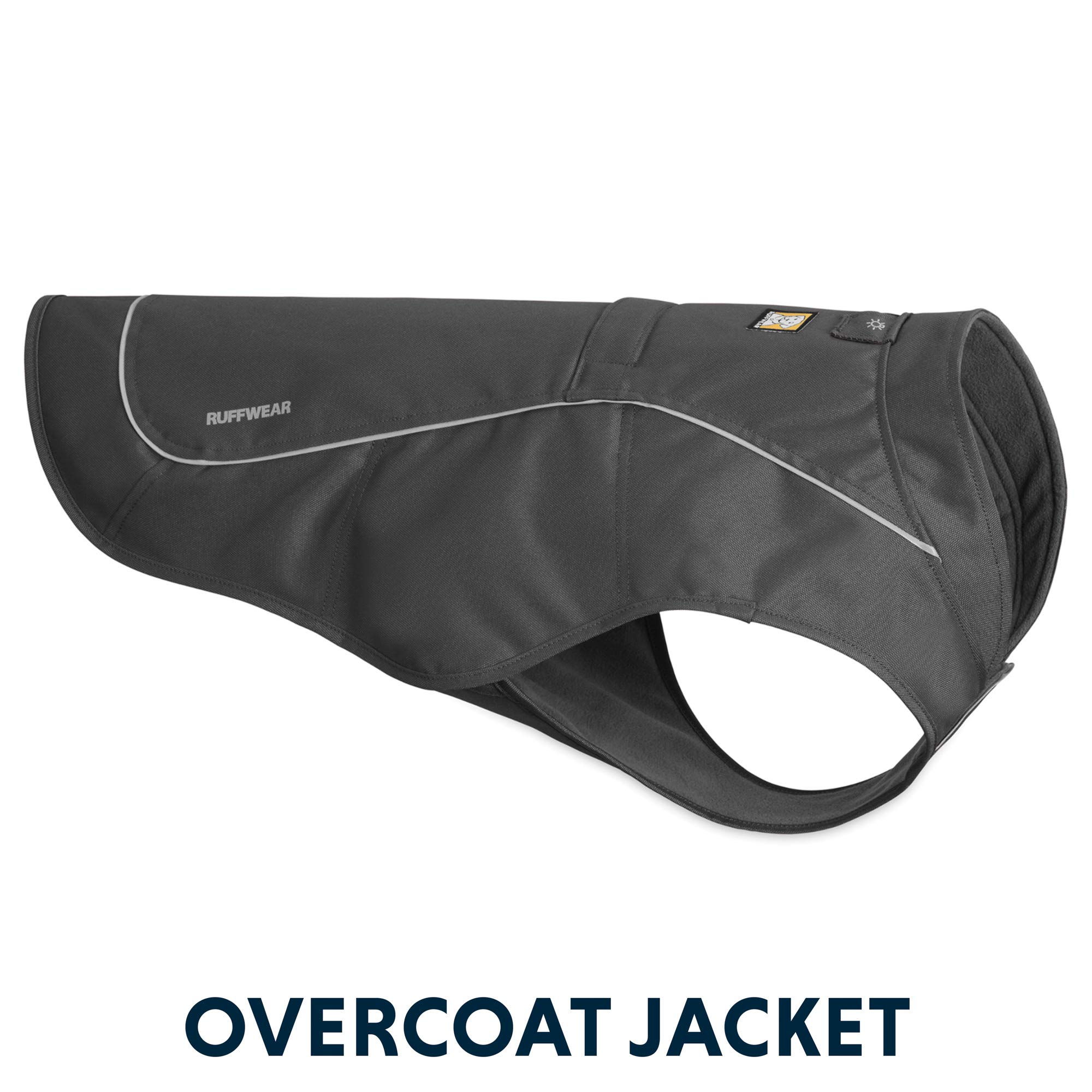 RUFFWEAR - Overcoat Fleece Lined Water Resistant Cold Weather Jacket for Dogs, Twilight Gray, Small by RUFFWEAR (Image #1)