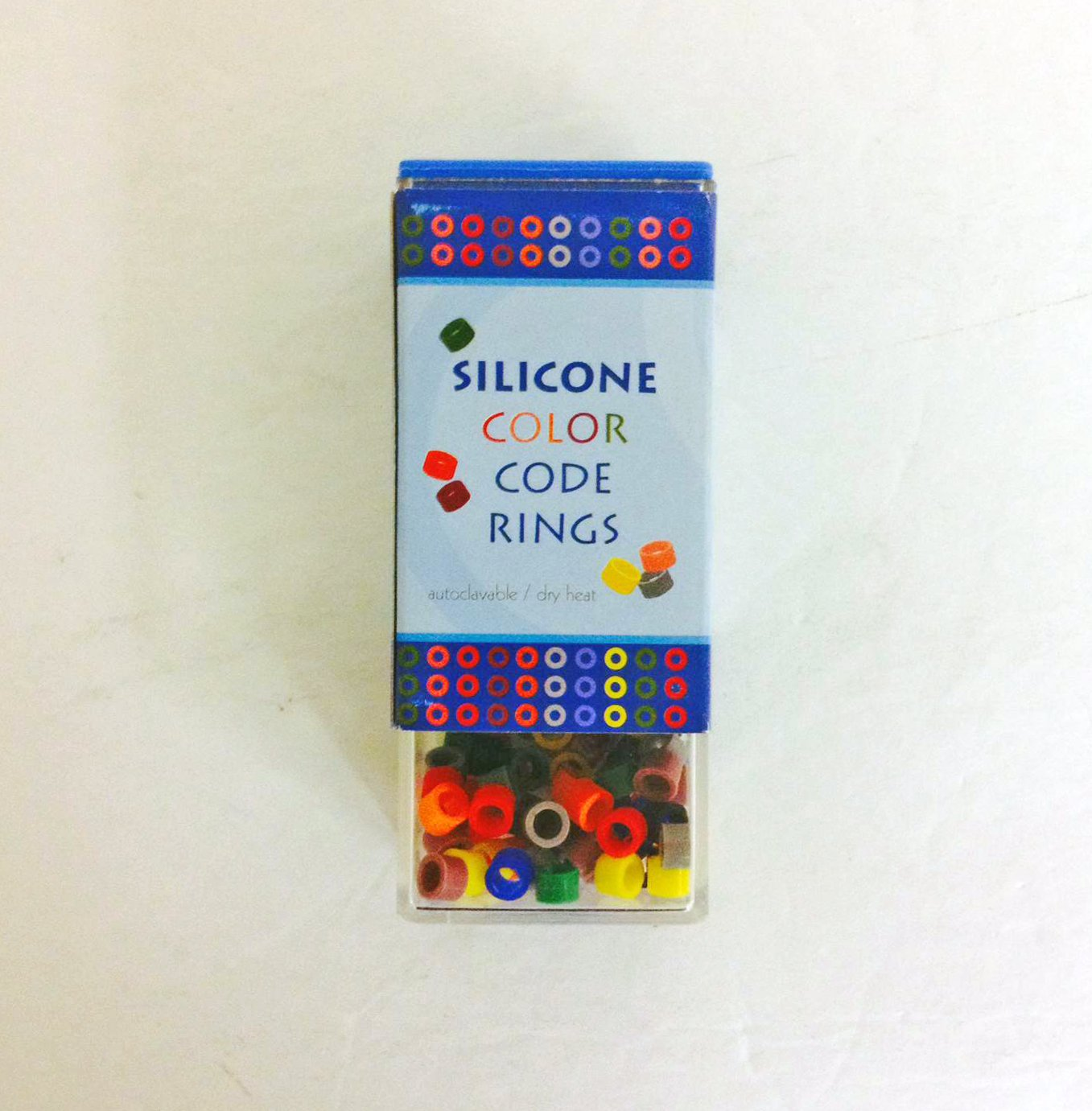 Plasdent 202CD Instrument Code Rings Small Assorted Colors 80/pk