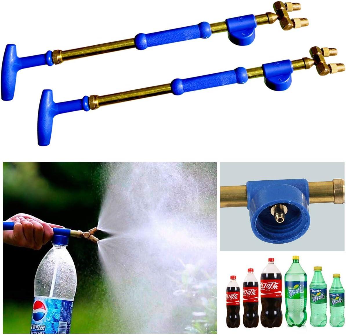 Eksahol Hand held Garden Sprayer Retractable Pump Pressure Water Sprayers, Portable Watering Gun for Lawn, Garden, Home, Office Cleaning, Dual Adjustable Nozzles, 2 Pack